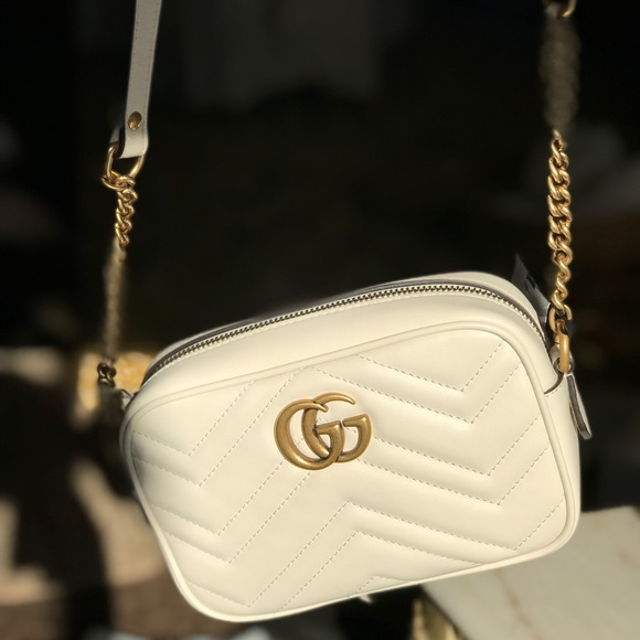 1830ffb1f90 Gucci Handbags - Gucci GG Marmont Mini Matelassé Camera Bag